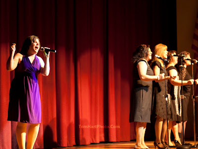 Lead singer - Donna Karounos (Dedicated to the One I Love), backup singers:  Rosann LeRose, Sue Peters, Laurie Moffitt, Heidi Gallo Photos by TOM HART/  FREELANCE PHOTOGRAPHER