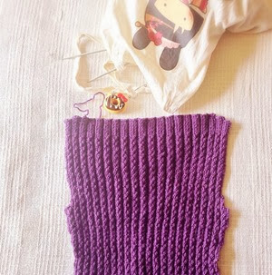My Quick 1940s Knit Project for the Knit For Victory KAL | Lavender & Twill