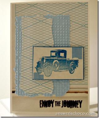 Tim Holtz Vintage Truck Card
