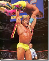 Warrior gorilla press slams Macho Man