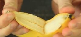 วิธีปอกเปลือกกล้วยสุก