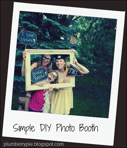 plumberry pie simple diy photo booth