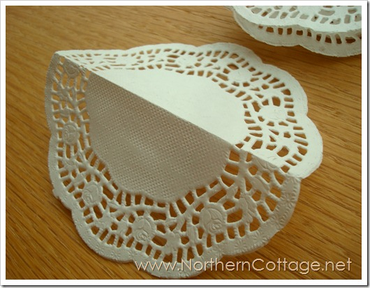 Folded Doily@NorthernCottage.net
