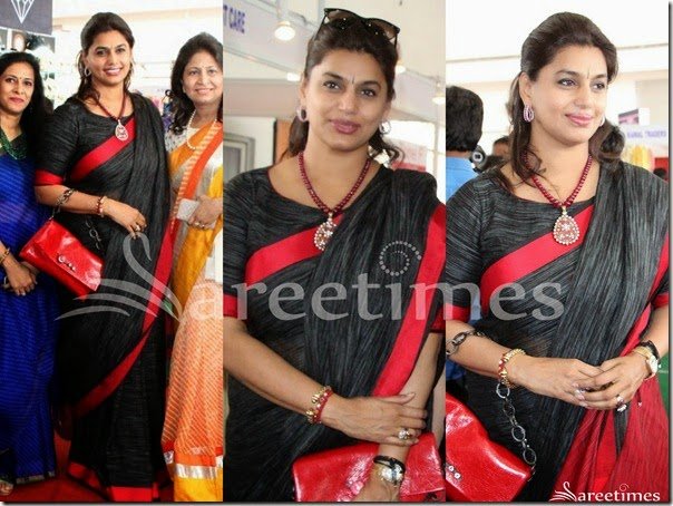 Pinky_Reddy_Black_Printed_Saree