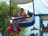 On the Sky Ride gondola at Dutch Wonderland. (August)