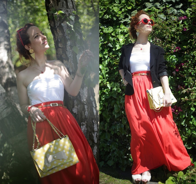OOTD Maxi Skirt Strapless Top Casual Summer Time