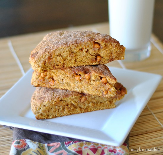 Pumpkin Butterscotch Scones