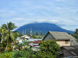 Gunung Ranai seen from the rear of the hotel (Dan Quinn, September 2013)