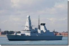 O Destroyer HMS Dauntless D-33.Foto Brian Burnell.ed.Fev.2012