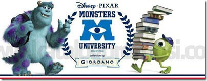 Monster University X Giordano Banner