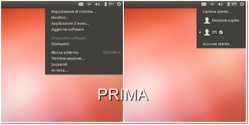 Ubuntu 12.04 - menu sessione