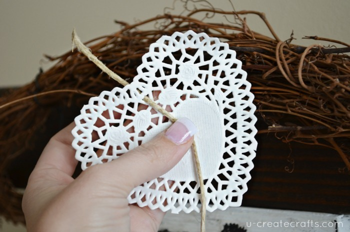 Doily and Twine Banner Tutorial