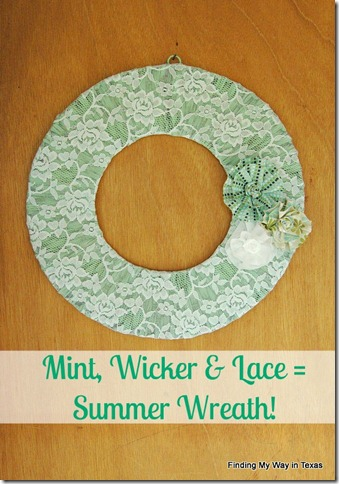 lace, mint, wicker wreath 015-001.2