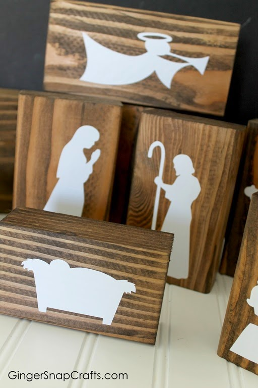 handmade nativity with Silhouette