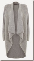 Mint Velvet Long Pale Grey Cardigan