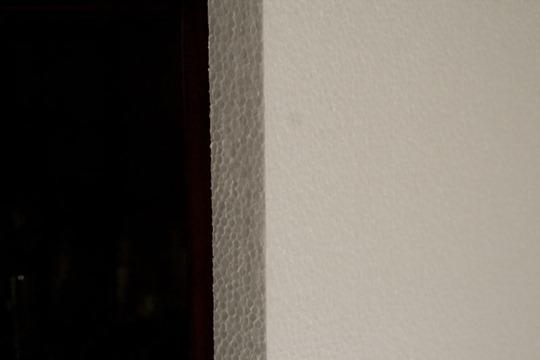 Styrofoam board closeup