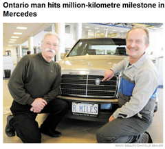 1 million km and still running (click to read article)
