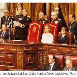 Fotografía con la apertura parlamentaria de D Juan Carlos tdel 79