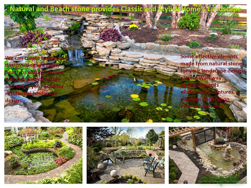 Attractive and beautiful sculptures, water ponds and fountains can be created by natural and beach stones for your outdoor landscape design that will be center of attraction for your outdoor and easy to maintain. Visit: http://bit.ly/1BGx7ty