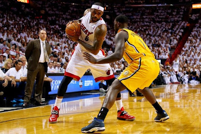 lebron james nba 140530 mia vs ind 39 game 6 Heat Eliminate Pacers, Advance to NBA Finals for 4th Straight Year