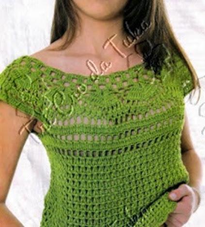 blusa verde con canesu