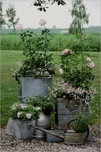 Multiple grouped galvanized planters - copia_thumb