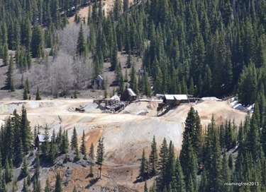 Some mines around Red Mountain Pass