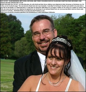 Marsden Alan and Heidi Kempton Park couple hijacked with 3 kids Dec 24 2011 driveway one month before emigration to UK