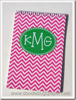 notebookpinkchevron