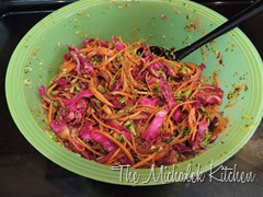 Balsamic Vinagrette Coleslaw wRed Cabbage-Onion-Carrot-Broccoli