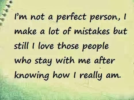 I am not perfect person