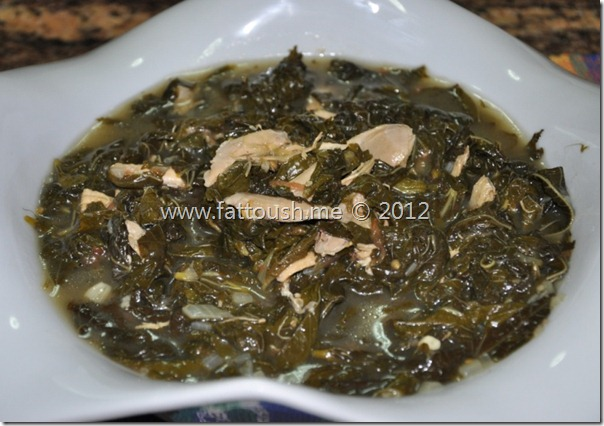 وصفة الملوخية بالدجاج من www.fattoush.me