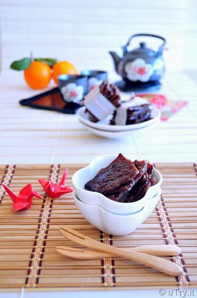 Fruity Pork Jerky 自家製果汁豬肉乾 for Chinese New Year  http://uTry.it