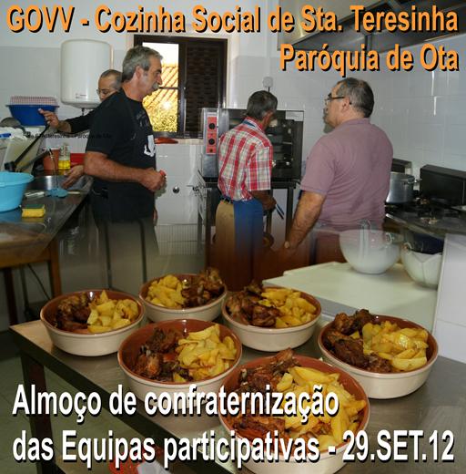 Almoço Confrat. Eqs. Cozinha Social - Ota - 29.07.12