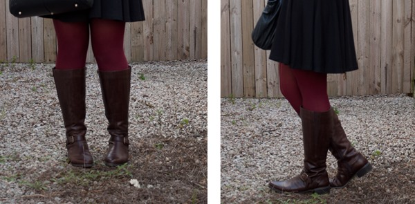 dark brown knee high riding boots
