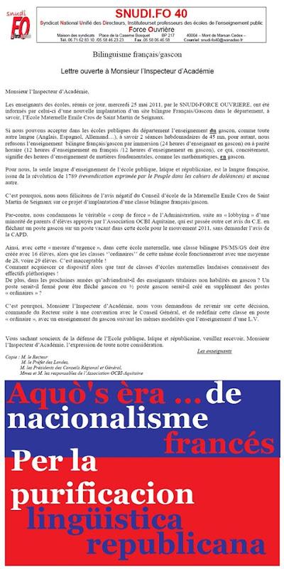 expression nacionalista francesa FO