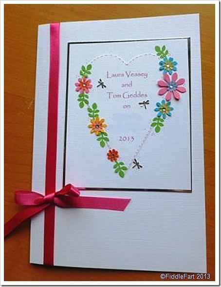 Rainbow heart wedding invititation