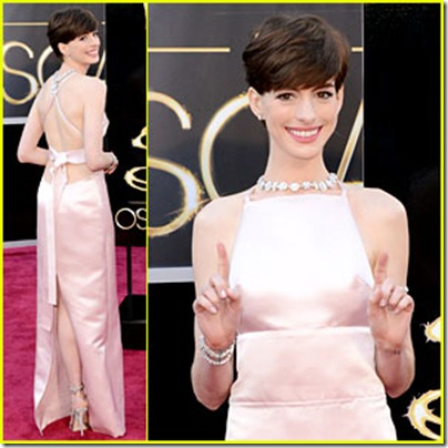 2013 Oscar's Best Beauty Hits... And Some Misses~Anne Hathaway