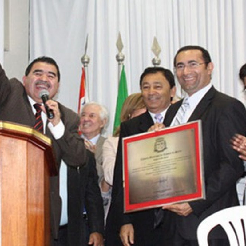Vereador Paulo Félix recebe o Titulo de Cidadão Taboanense