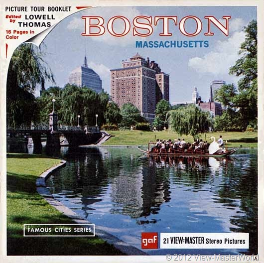 View-Master Boston (A726), packet cover