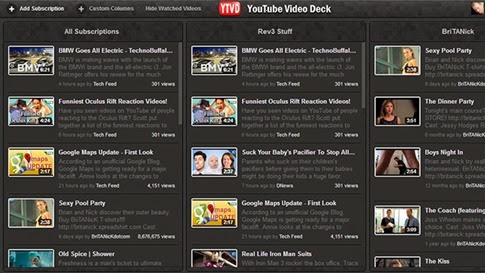 YouTube Video Deck para Chrome
