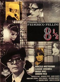 Poster Fellini ocho y medio