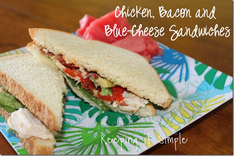Chicken, bacon and blue cheese