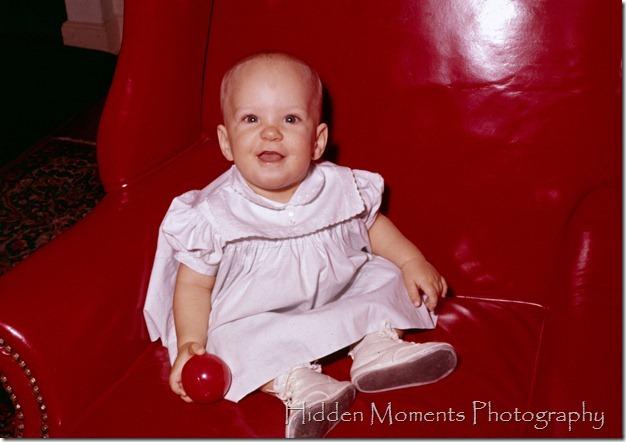 1960 Fall #71 Nov Deb red chair