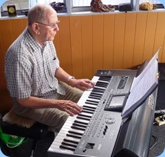 John Beales playing Gordon Sutherland's Korg Pa3X.