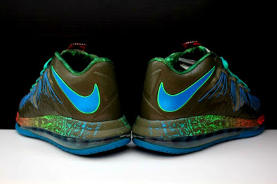 nike lebron 10 low gr black turquoise blue 2 11 Additional Look at Nike LeBron X Low Tarp Green