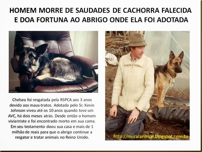 HOMEM MORRE DE SAUDADES DE CACHORRA FALECIDA