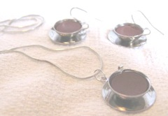 earrings 6.5.2012 coffee cups and saucer necklace