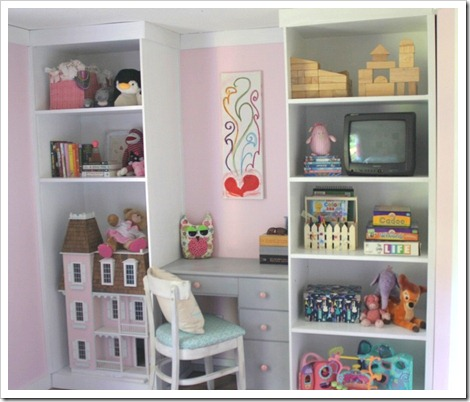 Built In Shelves for Kids