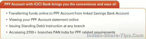 icici bank ppf accounts advantage